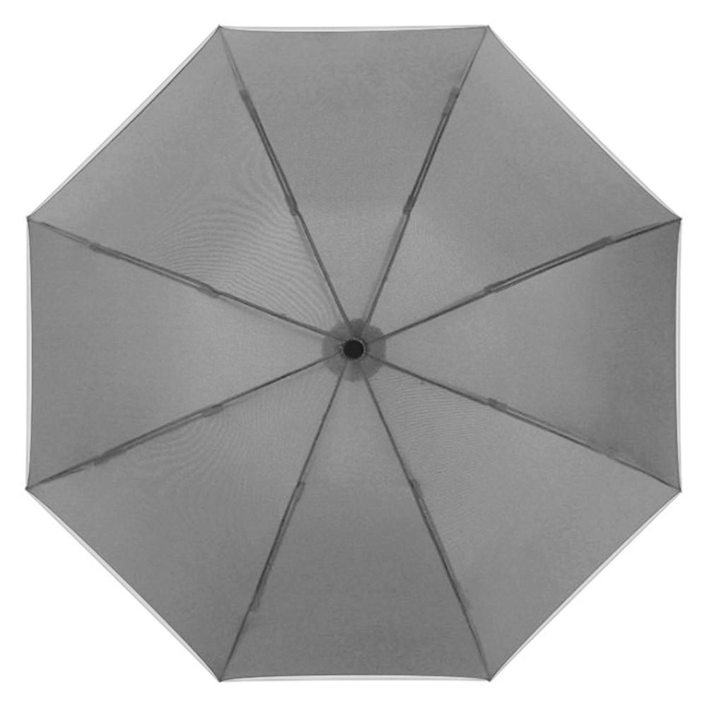 【FJ】全自動反向折疊加大伸縮雨傘(附收納帶)灰色