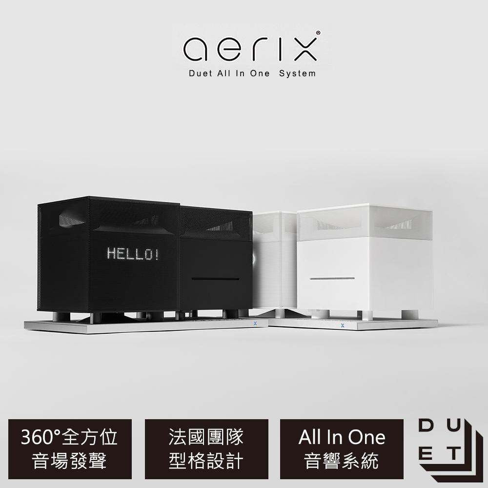送比利時DOMO舒活養生調理機【Aerix】 Duet All-In-One桌上型音響系統(黑色)