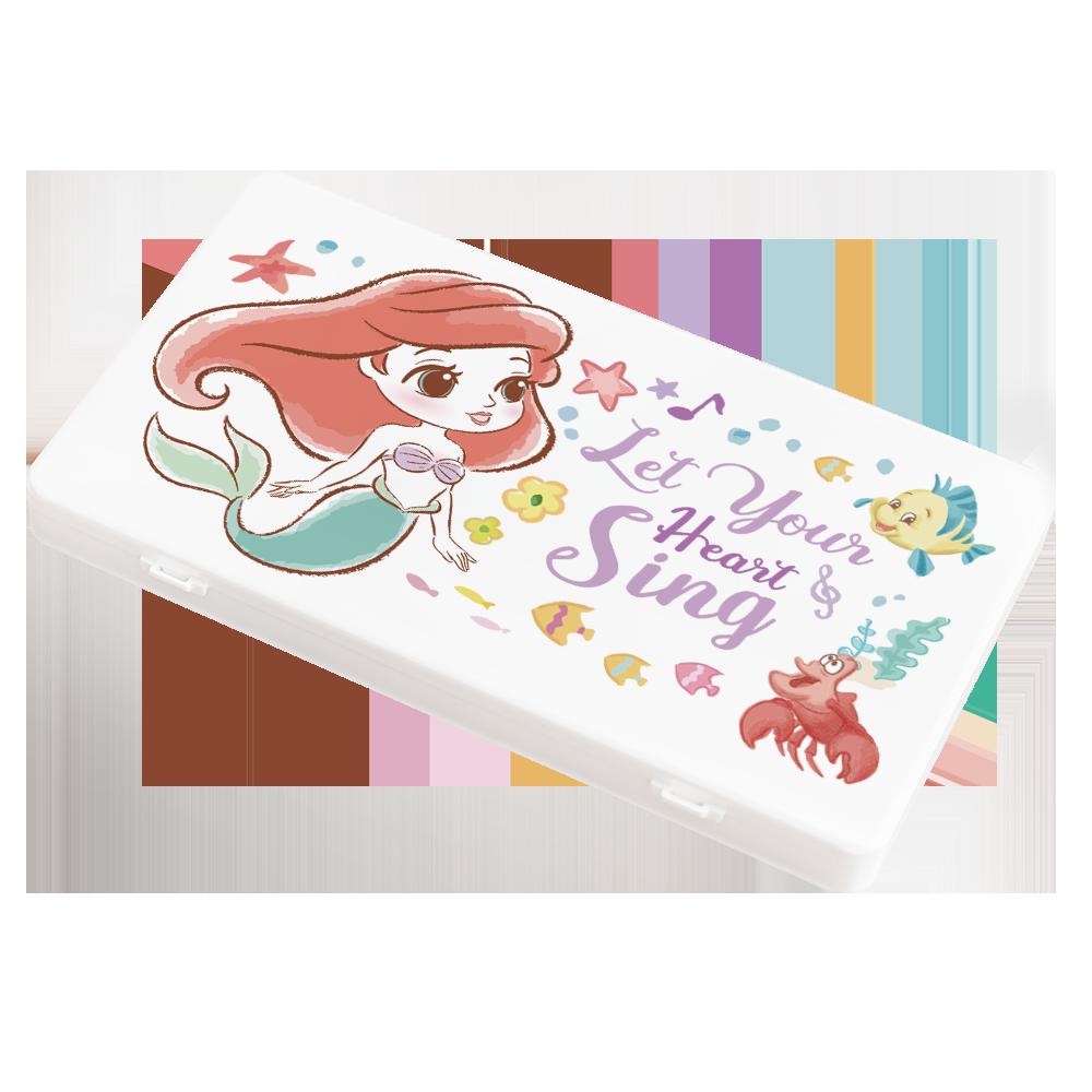 【收納王妃】迪士尼 (愛麗兒)-Q版公主系列 防疫必備口罩盒/零錢盒/收納盒/文具盒