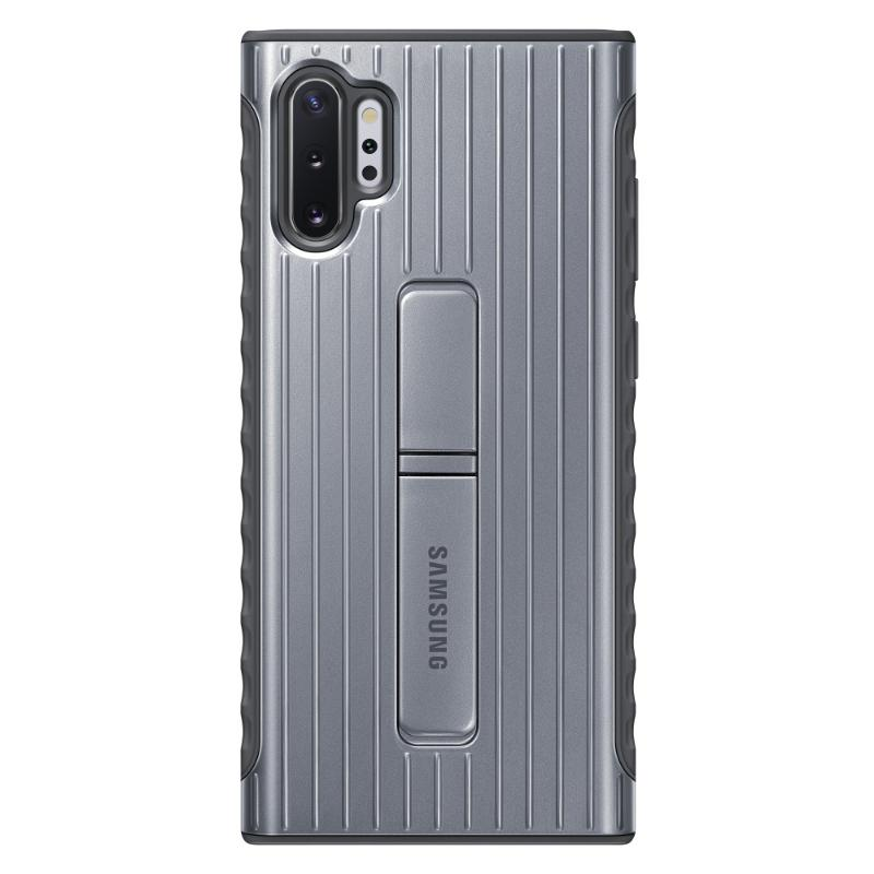 SAMSUNG Galaxy Note10+ 立架式保護皮套 銀
