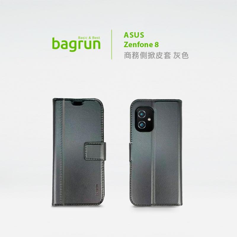 bagrun ASUS Zenfone 8 側掀皮套