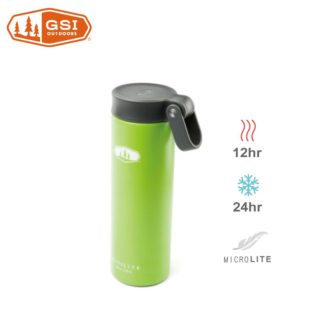 【美國GSI】輕量單手提環不鏽鋼保溫瓶-0.7L綠色