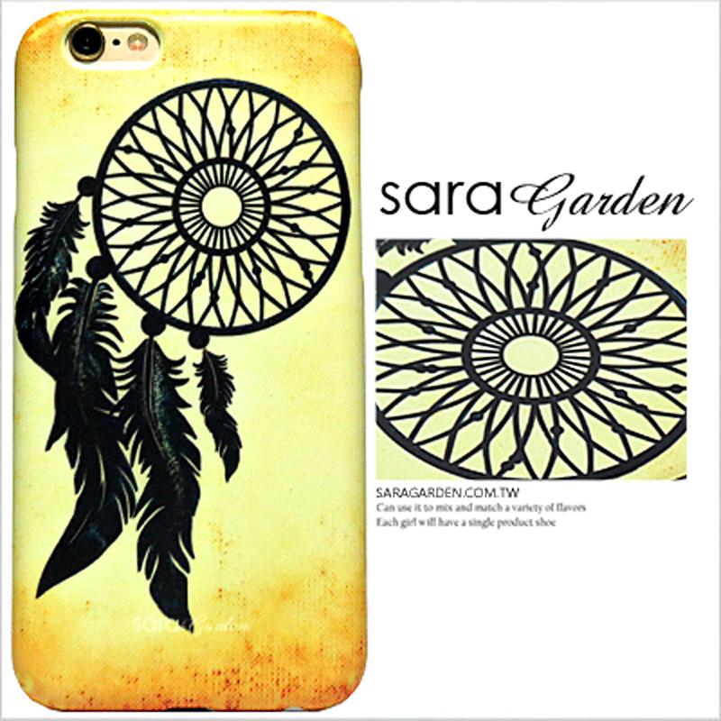 【Sara Garden】客製化 手機殼 蘋果 iPhone6 iphone6S i6 i6s 4.7吋 編織 羽毛 捕夢網 硬殼 限定