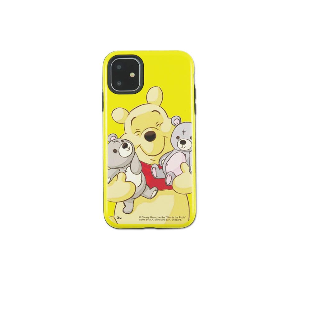 Disney迪士尼iPhone11Promax系列磨砂雙料殼_維尼