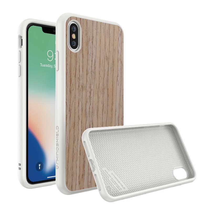 犀牛盾 SolidSuit防摔背蓋手機殼 iPhoneXs Max胡桃木紋 杏色/白