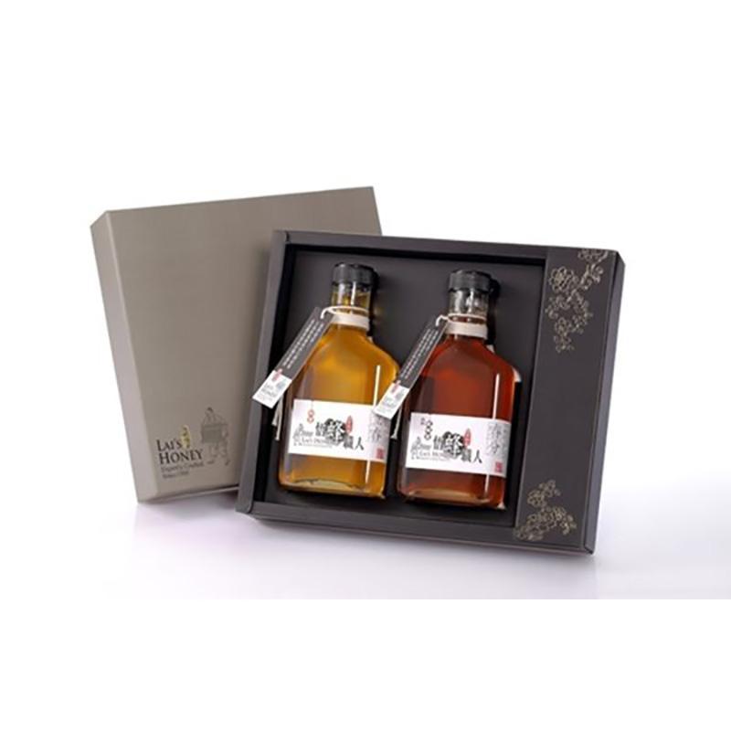 《宏基》悟蜂職人-小瓶蜜禮盒(280g/瓶,2瓶入/盒)(龍眼蜜+荔枝蜜)
