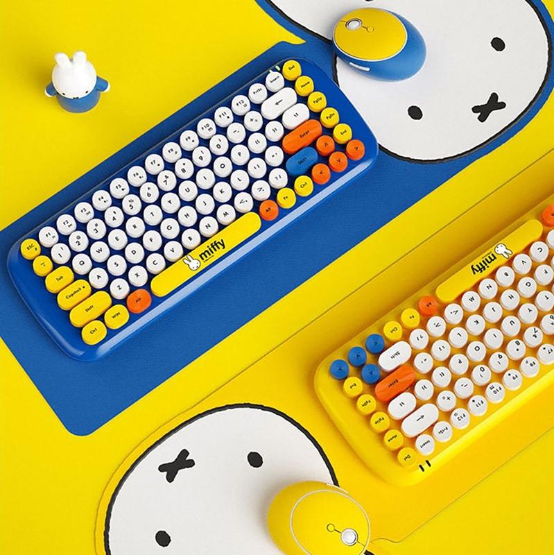 miffy x MiPOW 米飛x麥泡聯名無線鍵盤滑鼠套裝(黃色)
