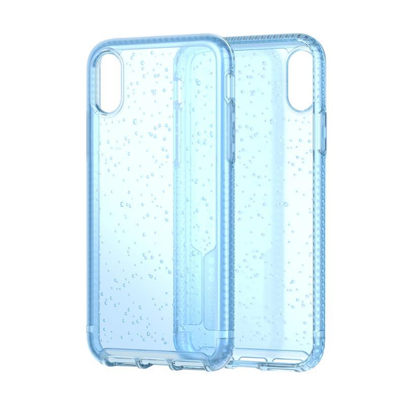 Tech 21抗衝擊PURE SODA防撞硬式保護殼 iPhoneXs Max 透藍