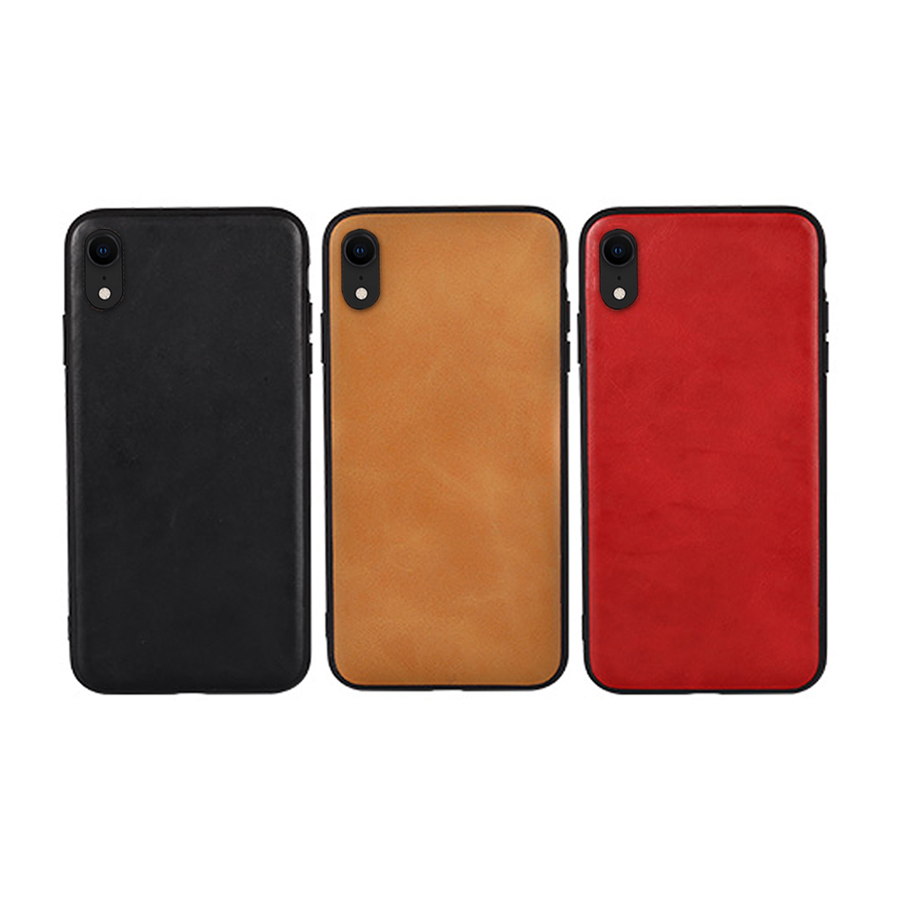 JISONCASE Apple iPhone XR 真皮保護殼(紅色)
