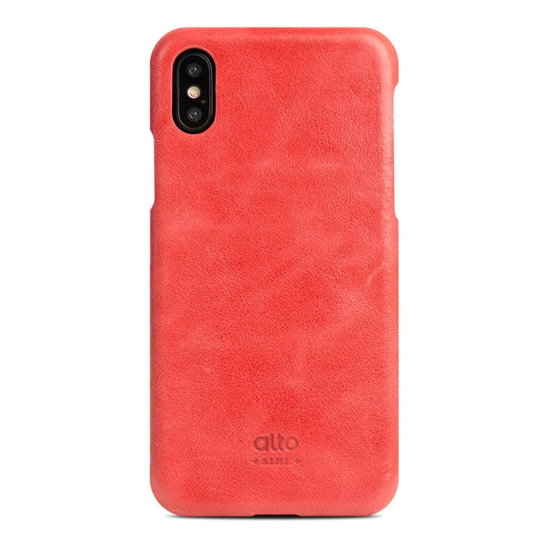 Alto|iPhone X / Xs 皮革保護殼 Original – 珊瑚紅