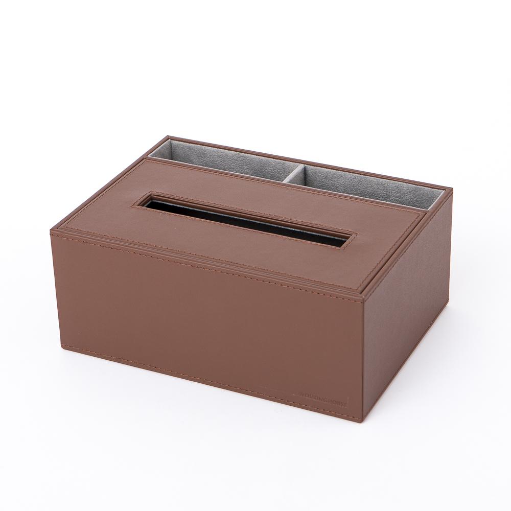 studio life皮質面紙收納盒-生活工場