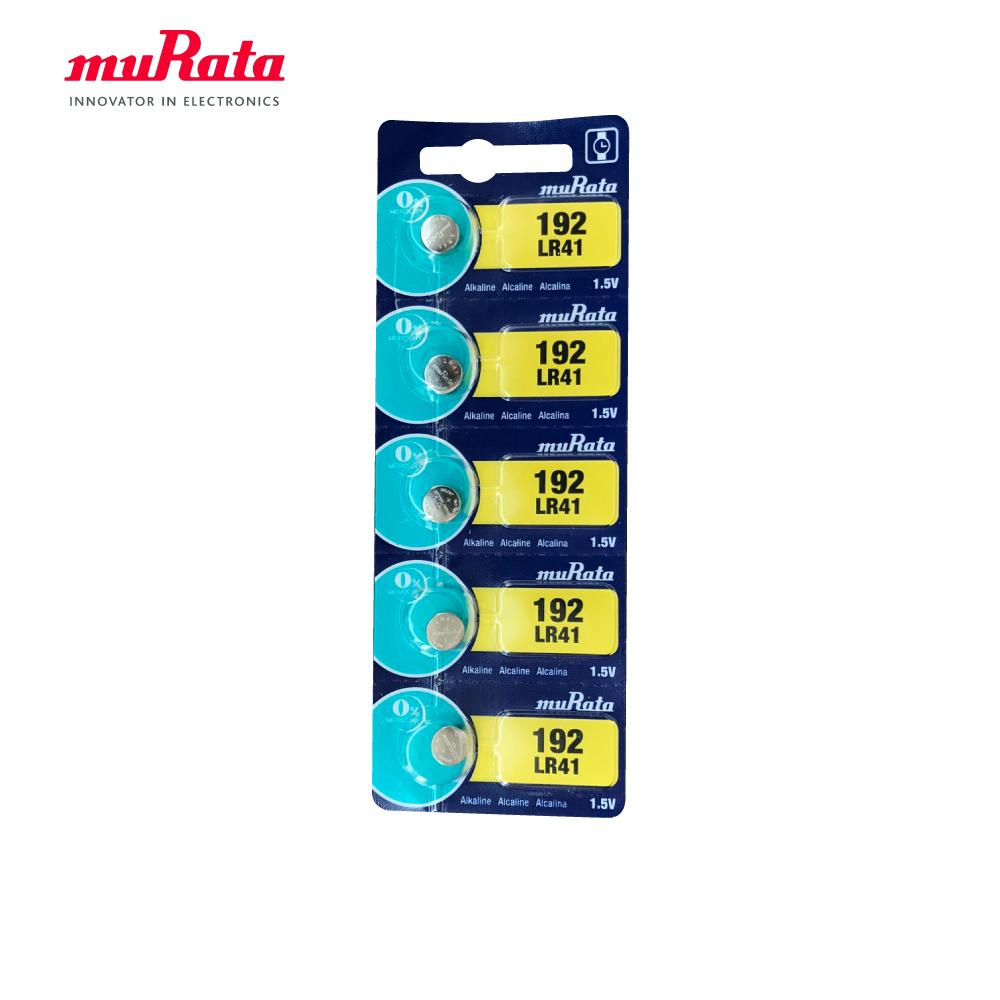 muRata 村田 LR41 鹼性鈕扣型電池5入/卡 台灣公司貨
