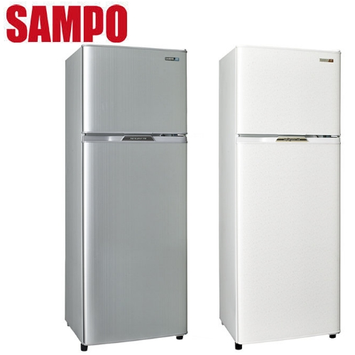 SAMPO聲寶250L經典品味雙門電冰箱SR-L25G(W2)典雅白