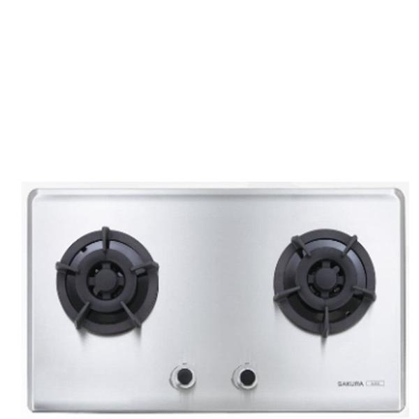 (全省安裝)櫻花雙口檯面爐(與G-2522S同款)瓦斯爐天然氣G-2522SN