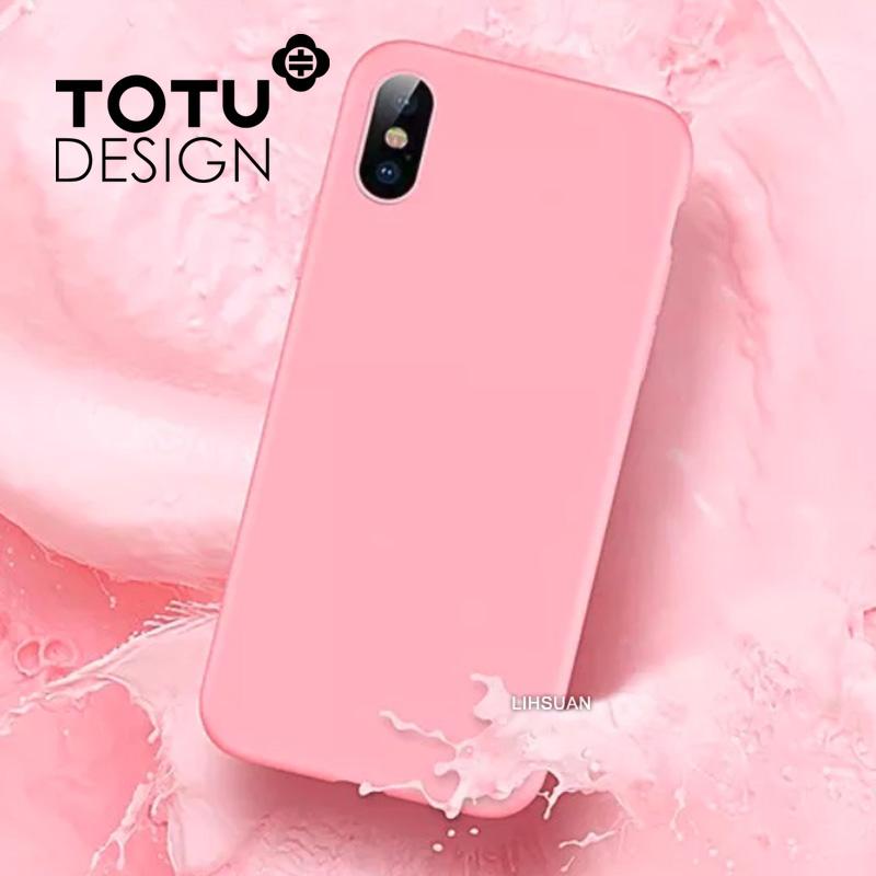 【TOTU台灣官方】出彩系列 iPhoneX iX 手機殼 輕薄 液態矽膠 保護套 防摔殼 手機套 全包 軟殼 粉色