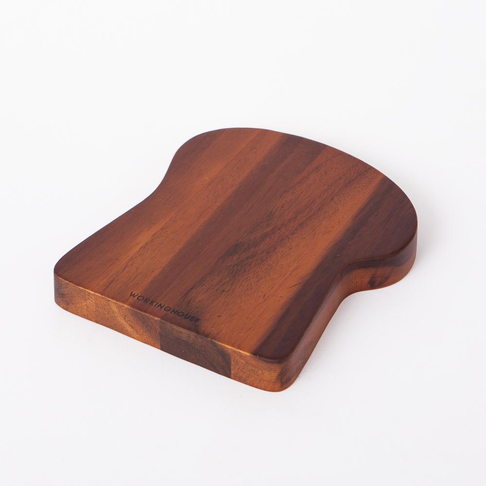 木質宣言洋槐吐司造型隔熱墊-生活工場