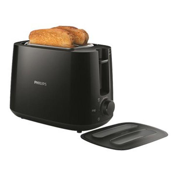 【飛利浦 PHILIPS】電子式智慧型厚片烤麵包機_黑 (HD2582/92)