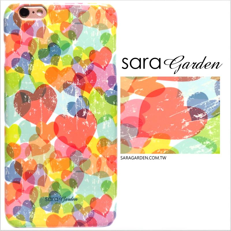 【Sara Garden】客製化 手機殼 Samsung 三星 A7 2017 韓風 馬卡龍 刷色 愛心 保護殼 硬殼