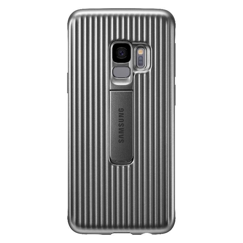 SAMSUNG Galaxy S9立架式保護皮套 銀色