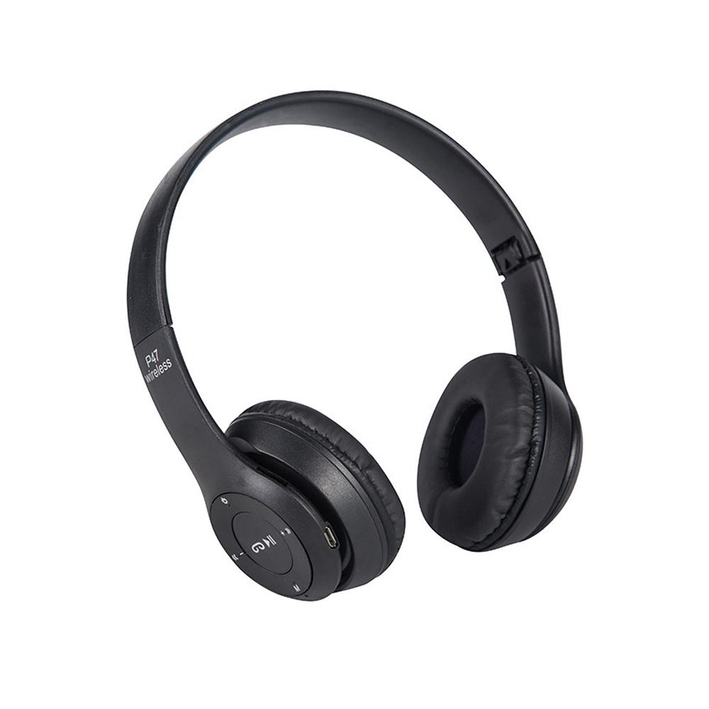 立體HIFI雙聲道 重低音 耳罩式藍牙耳機-黑色