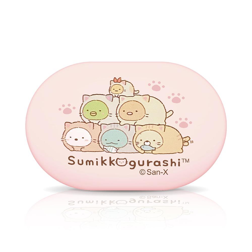 【正版授權】角落生物小夥伴Sumikko Gurashi 無線藍牙耳機-金字塔(粉)