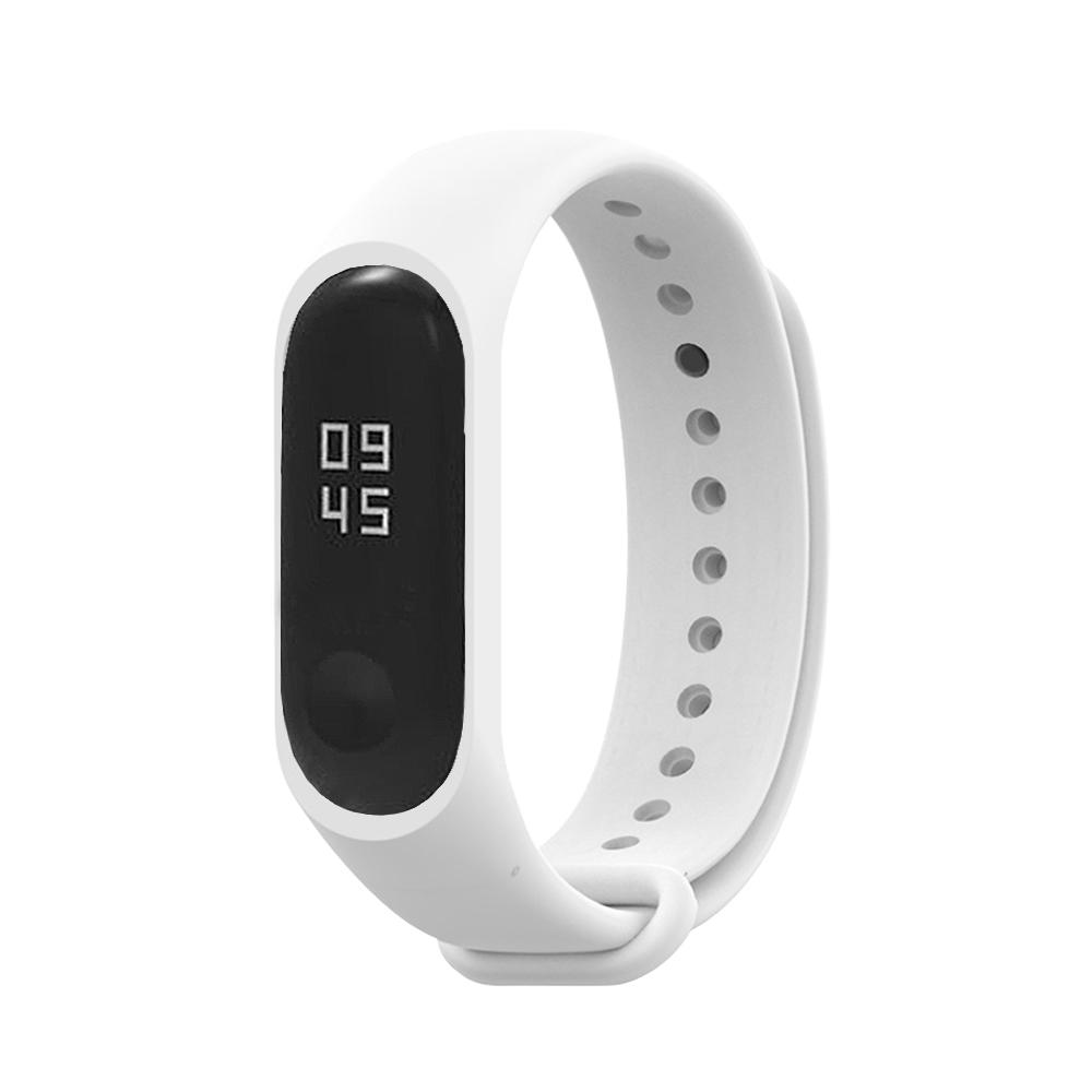 小米手環6代/5代/4代/3代通用 矽膠運動替換錶帶-白色