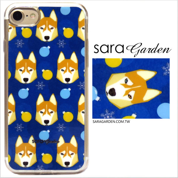 【Sara Garden】客製化 軟殼 蘋果 iPhone7 iphone8 i7 i8 4.7吋 手機殼 保護套 全包邊 掛繩孔 手繪哈士奇狗狗