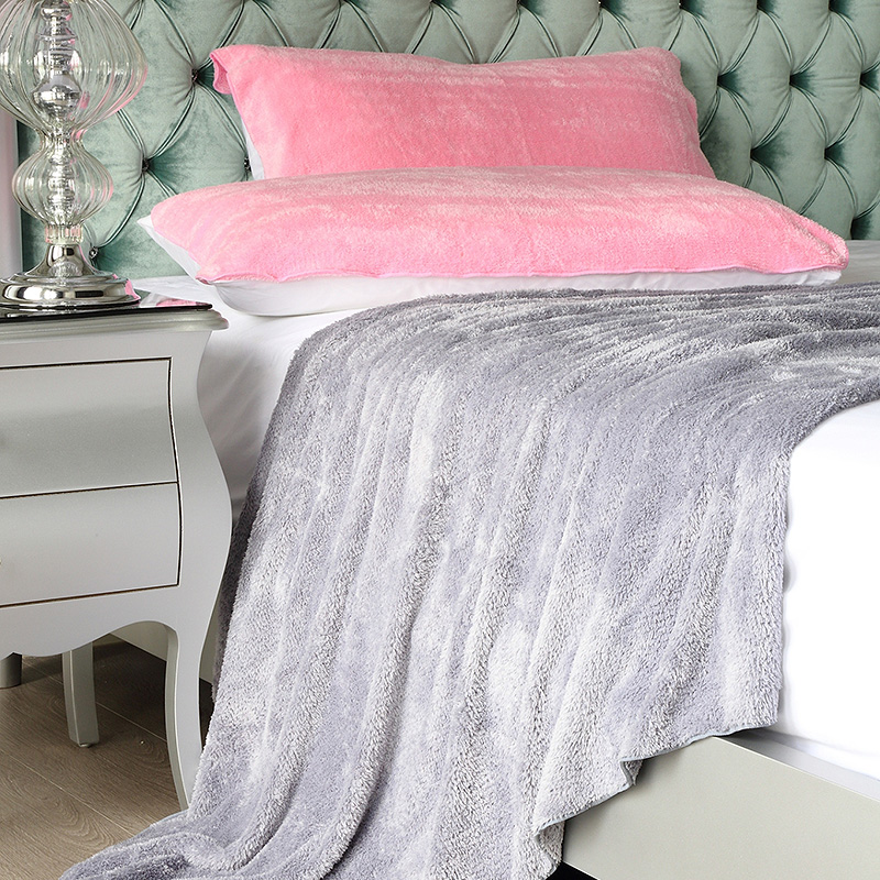 新帛織品單人毛毯 3x6/水綠