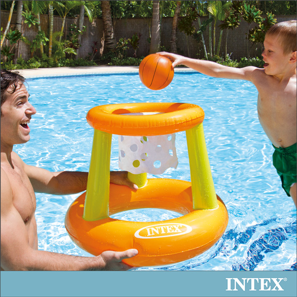 【INTEX】幼童投籃充氣玩具/水上籃球架(58504)