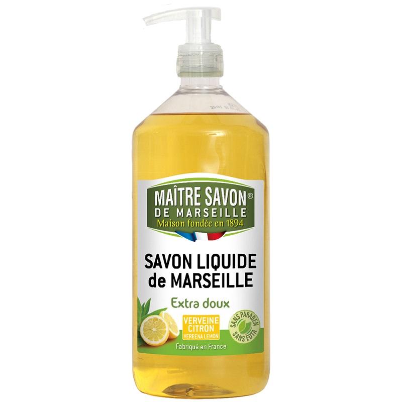 法國玫翠思馬賽液體皂(檸檬馬鞭草)1000ML-2入