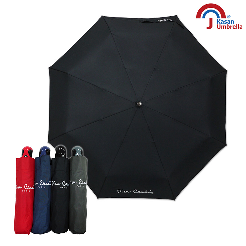 皮爾卡登 超潑水防風自動雨傘 黑色
