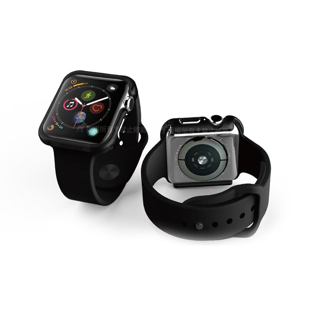 刀鋒Edge系列 Apple Watch 44mm 鋁合金雙料保護殼 保護邊框(經典黑)