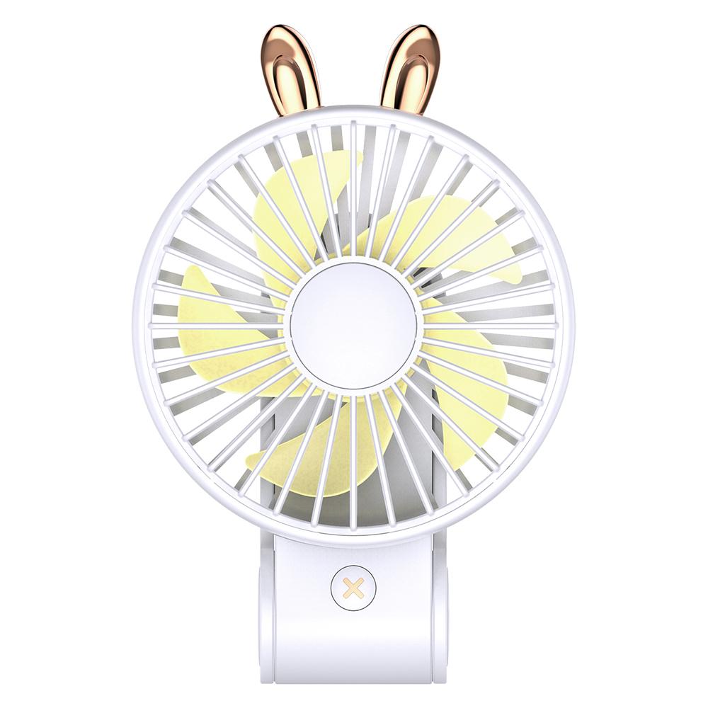 【超萌款】手持可掛可立多功能風扇P23(270度調整風位)白色