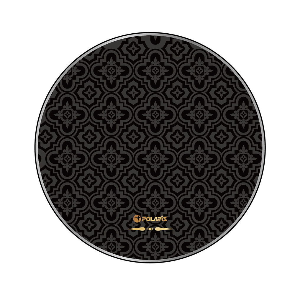 POLARIS 金屬邊框玻璃面無線充電盤-波斯黑