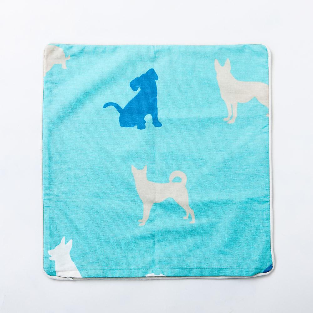 紳士犬抱枕套45x45-生活工場