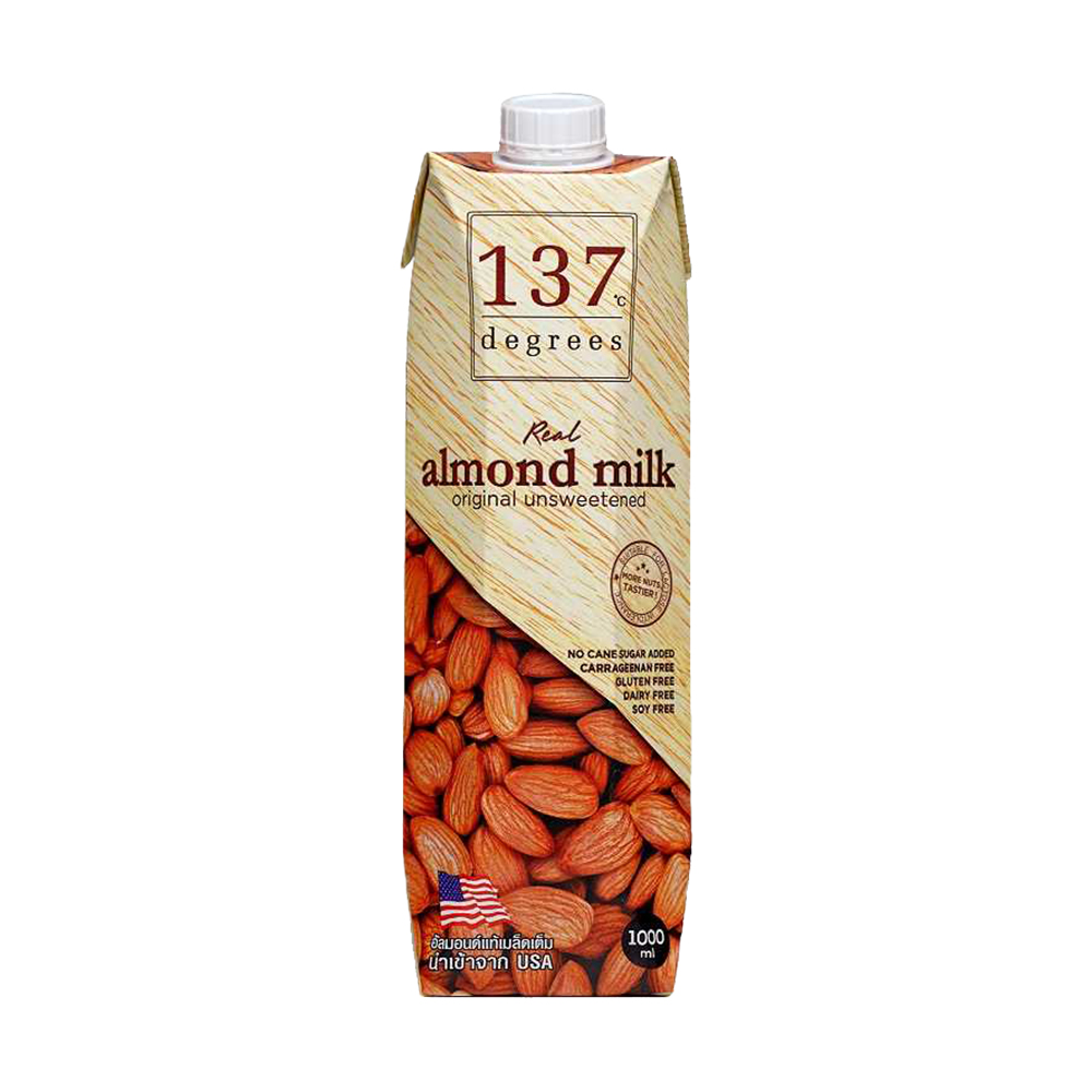【137degrees】原味杏仁飲x6瓶(1000ml/瓶)