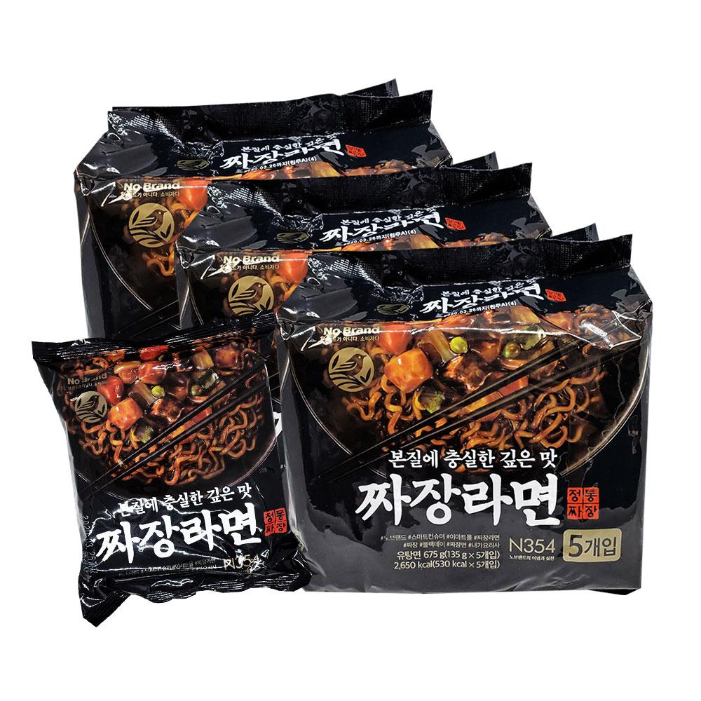 NO BRAND 經典炸醬拉麵 共三袋 (135公克x15包)