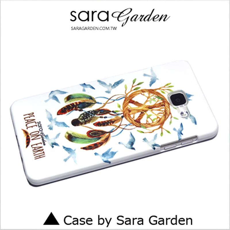 【Sara Garden】客製化 手機殼 Samsung 三星 J7Plus j7+ 和平羽毛捕夢網 手工 保護殼 硬殼