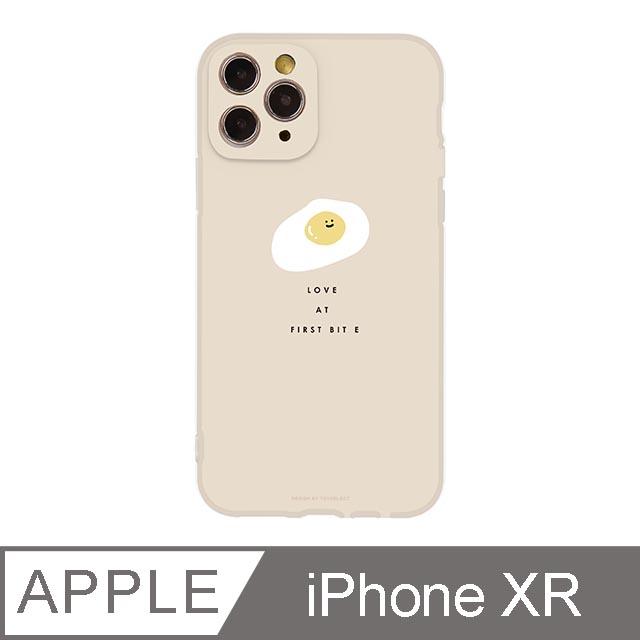 iPhone XR 6.1吋 Smilie微笑荷包蛋霧面抗污iPhone手機殼