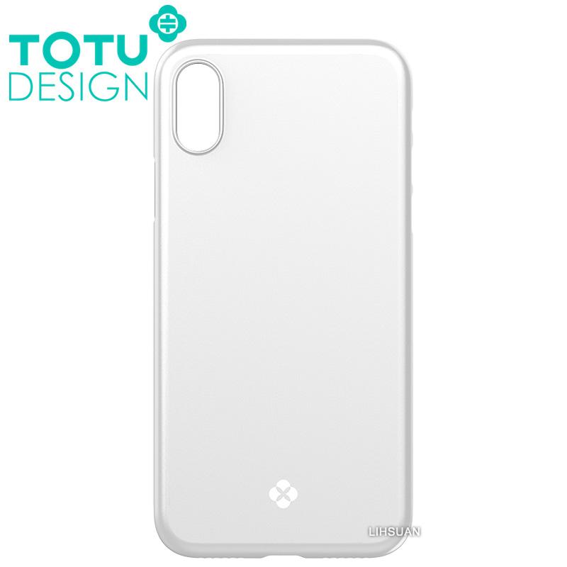 【TOTU台灣官方】iPhoneX手機殼 晶瑩系列 銀色