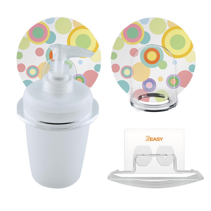 【olina】2easy 無痕衛浴收納組系列-(牙刷架+牙刷杯杯+香皂架)