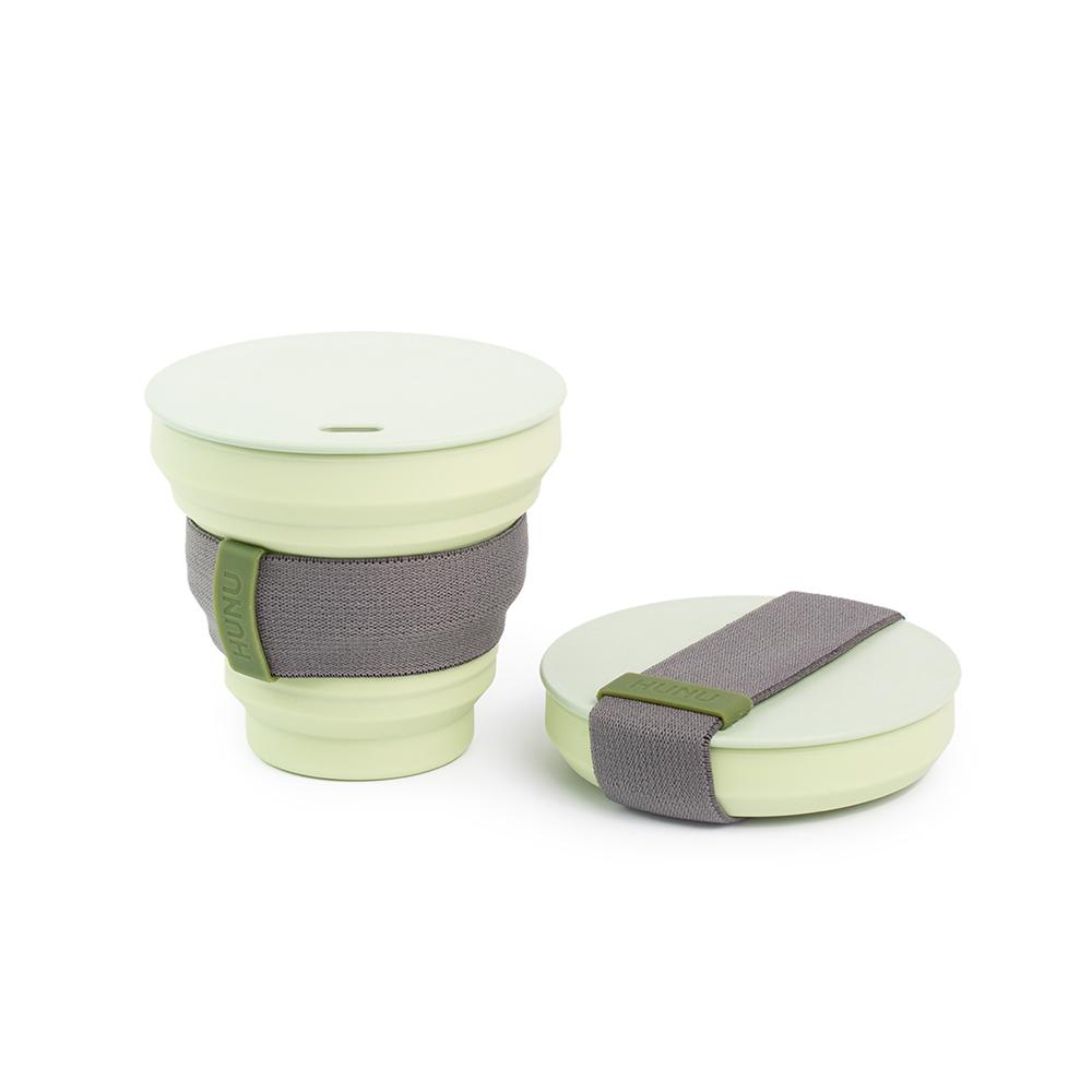 HUNU環保摺疊口袋杯-鼠尾草綠