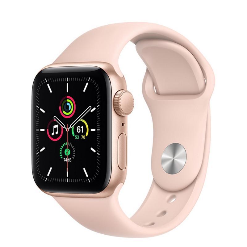 Apple Watch SE GPS 40mm 金色鋁金屬-粉沙色運動型錶帶【新品上市 現貨賣場】