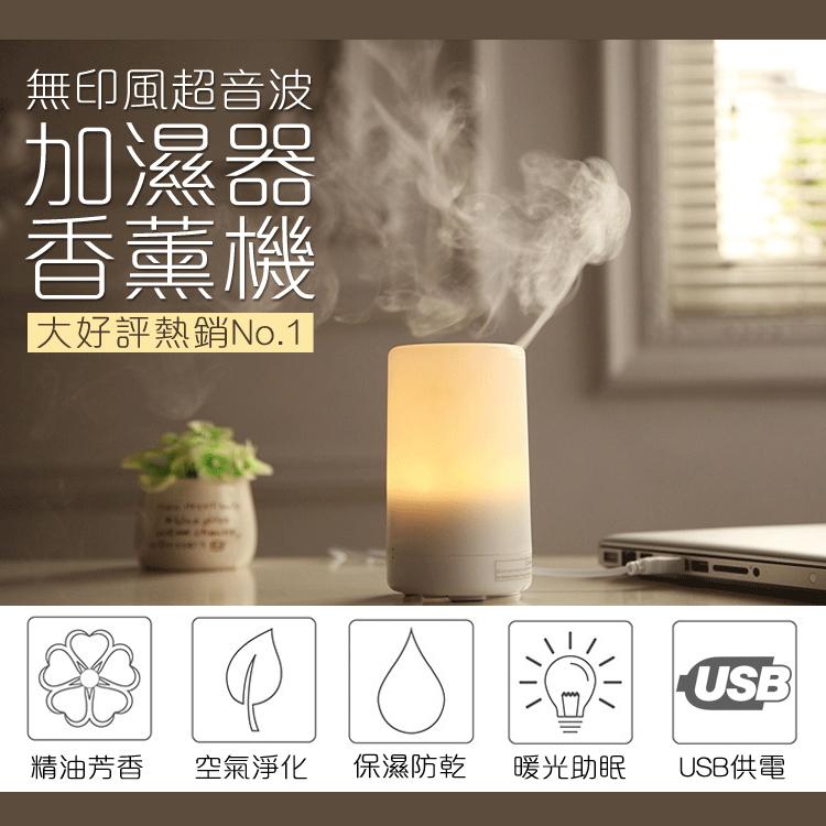【送充電器】無印極簡風 超音波水氧機 加濕器 70ML 暖光噴霧 香薰 香氛機 精油機