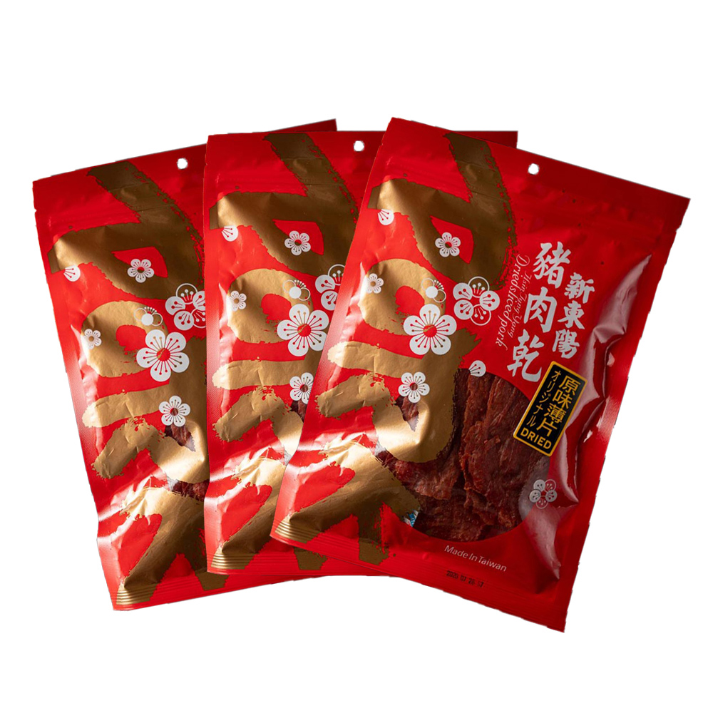 【新東陽】原味薄片豬肉乾 (170g*3包)