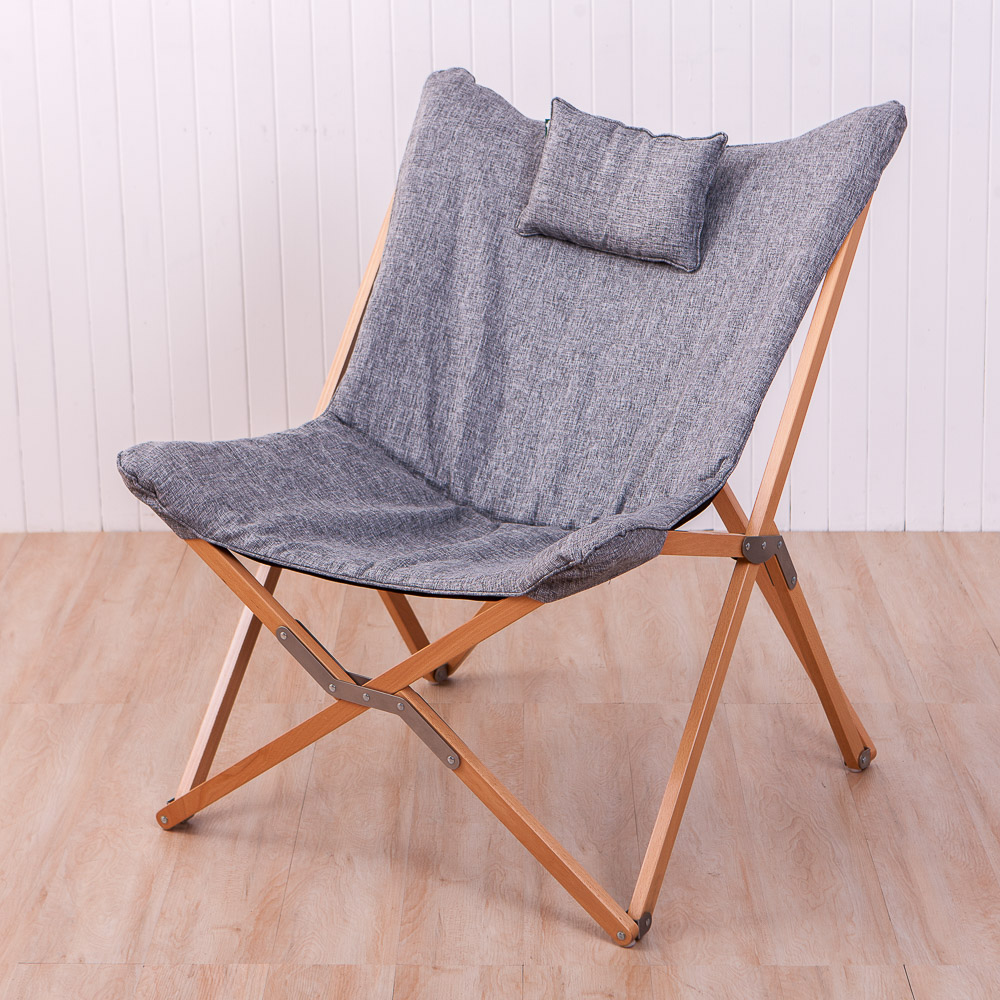 生活工場 品味居家可收合蝴蝶椅(淺灰色)