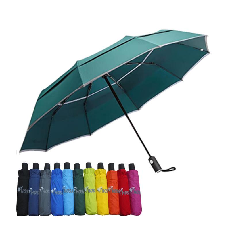 【HOSA】安全雙反光自動傘-綠色