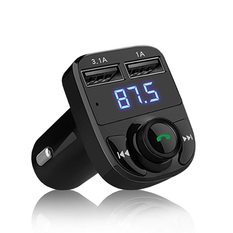 【Gmate】HD5 -黑色(車用藍牙MP3 免持通話 測電壓 LINE通話 APP操控 SD卡/隨身碟播放 AUX輸入)