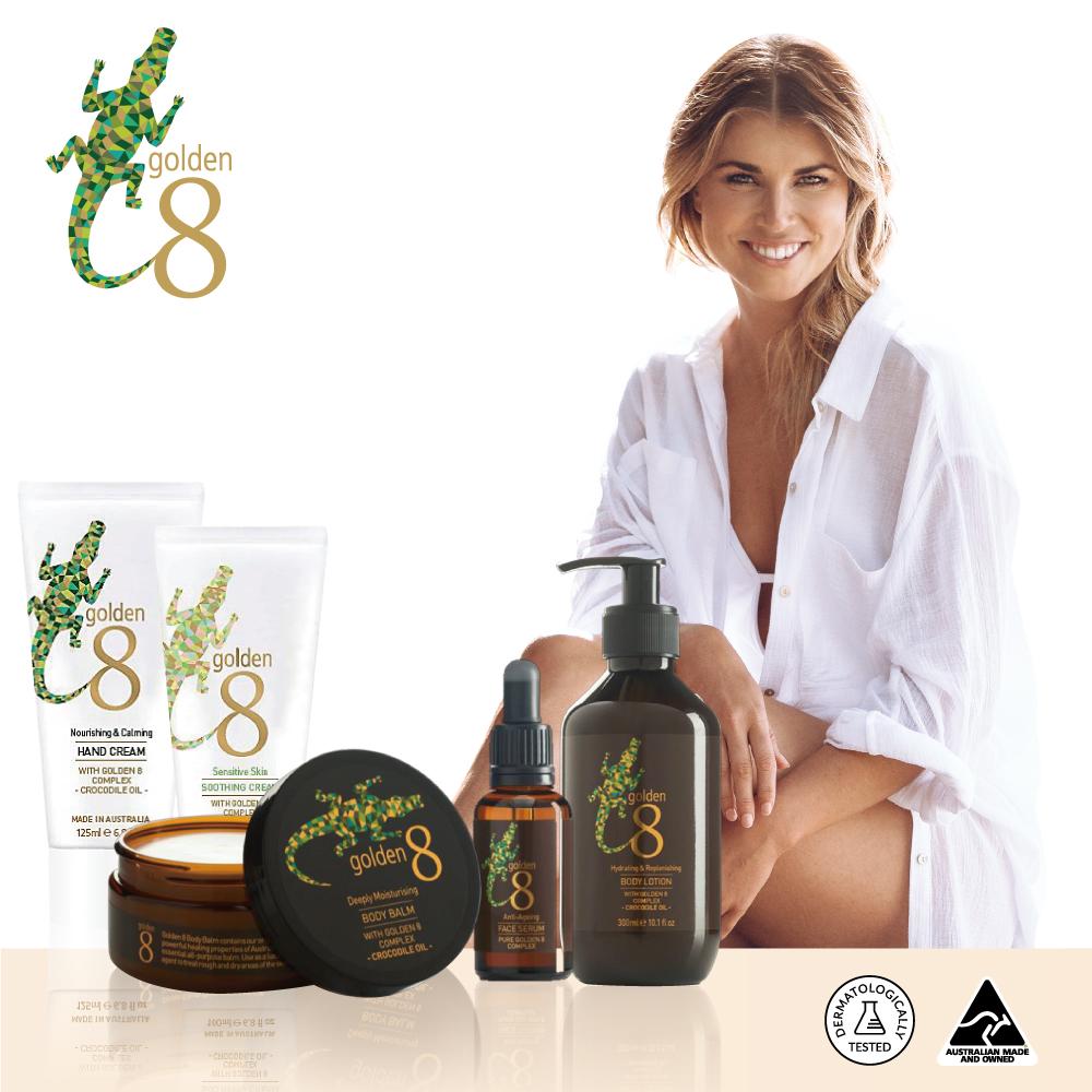 【澳洲Golden 8】鱷魚油全方位呵護黃金頂級奢華5件組