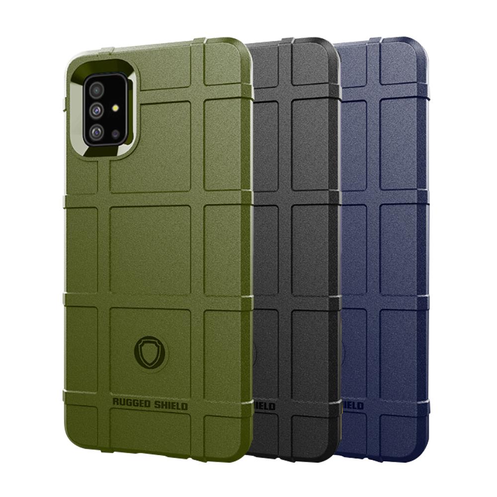 QinD SAMSUNG Galaxy A51 戰術護盾保護套(黑色)